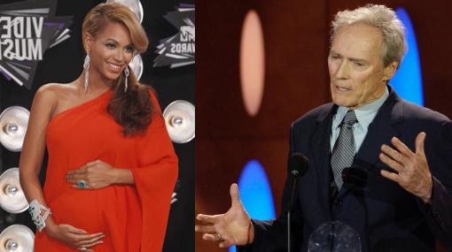 Clint Eastwood, Beyoncé, Embarazos de famosos, Nace una estrella