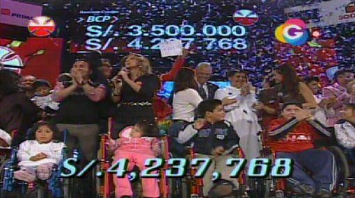 La Teletón volvió a superar su meta: recaudó S/. 4'237.768