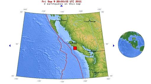 Canadá, Terremotos