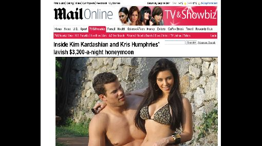 Kim Kardashian, MTV Video Music Awards, Televisión, Kris Humphries