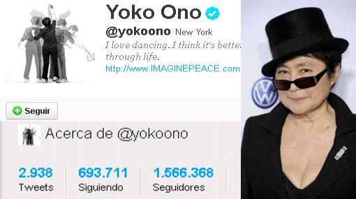 Yoko Ono, Twitter