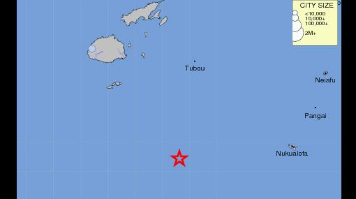 Sismos, Fiji, Sismo en Fiji