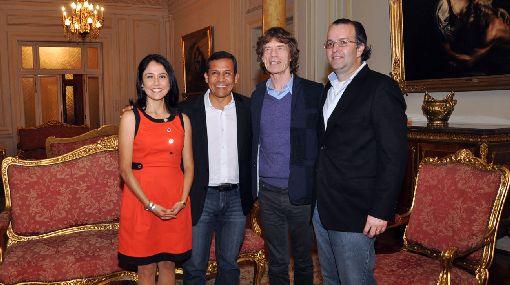 Ollanta Humala, Mick Jagger