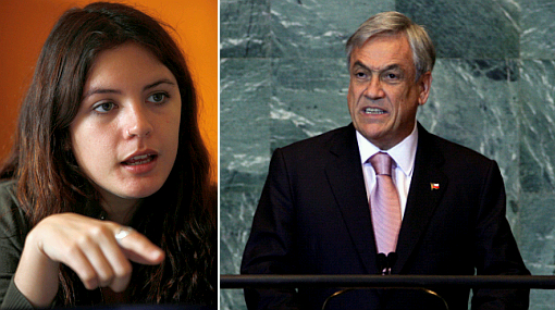 , Sebastian Piñera, Camila Vallejo