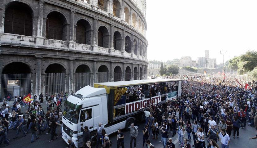 Roma, Italia, Wall Street, Protestas en Wall Street, Okupas