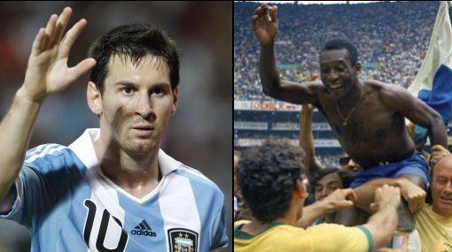 ¿Pelé? Messi lo superó, Pelé triste