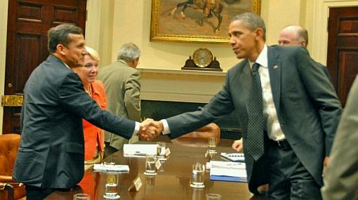 Barack Obama, Hillary Clinton, Ollanta Humala, Salomón Lerner Ghitis,  Harold ForsythClinton