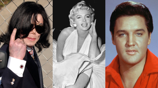 Forbes, Marilyn Monroe, Michael Jackson, Elizabeth Taylor