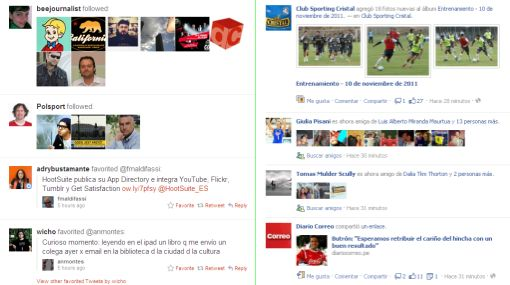 facebook, Twitter, Timeline, Actividad