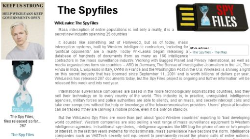 Wikileaks,  The Spyfiles