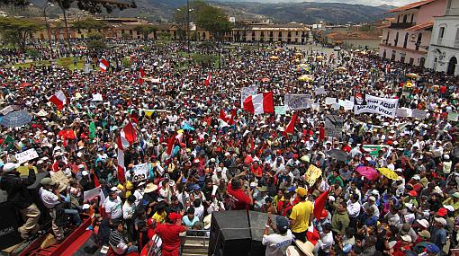 Cajamarca, Perú Posible, Proyecto Conga, Protestas en Cajamarca