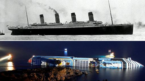 Italia, Titanic, Naufragios, Costa Concordia, Naufragio en Italia