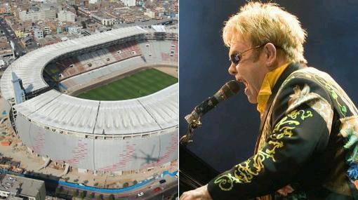 , Municipalidad de Lima, Estadio Nacional, Concierto de Elton John, Elton John en Lima