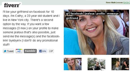 Ahora se puede tener enamorada en Facebook por 5 dólares