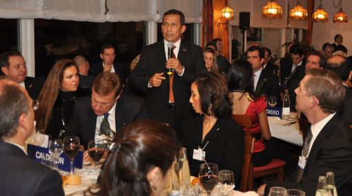 Las actividades de Ollanta Humala en el Foro Económico Mundial