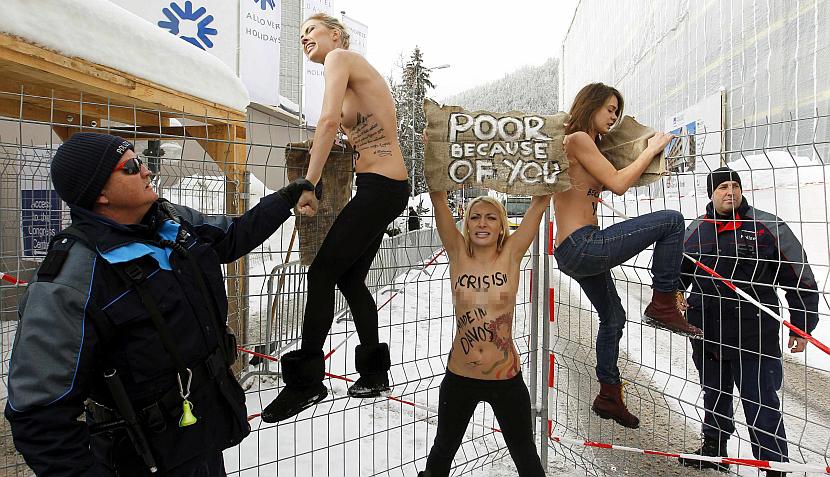 Davos, Suiza, Protestas