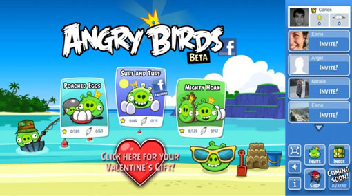 Facebook, Angry Birds