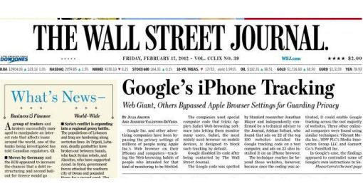 Apple, The Wall Street Journal, Google,  Safar
