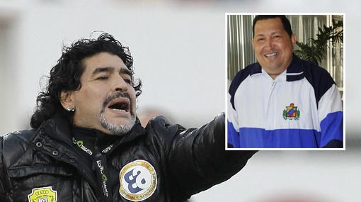Maradona sobre Ch&#225...