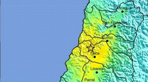 Santiago de Chile, Talca, Sismos en Chile, Chile