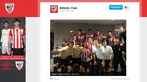 Athletic Bilbao, Redes sociales, Twitter, Facebook