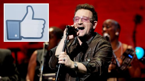 Paul McCartney, Bono, U2, Facebook