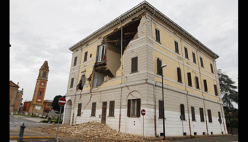 así luce el norte de Italia después de terremoto