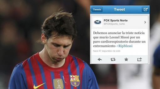 muerte de messi jugador futbol