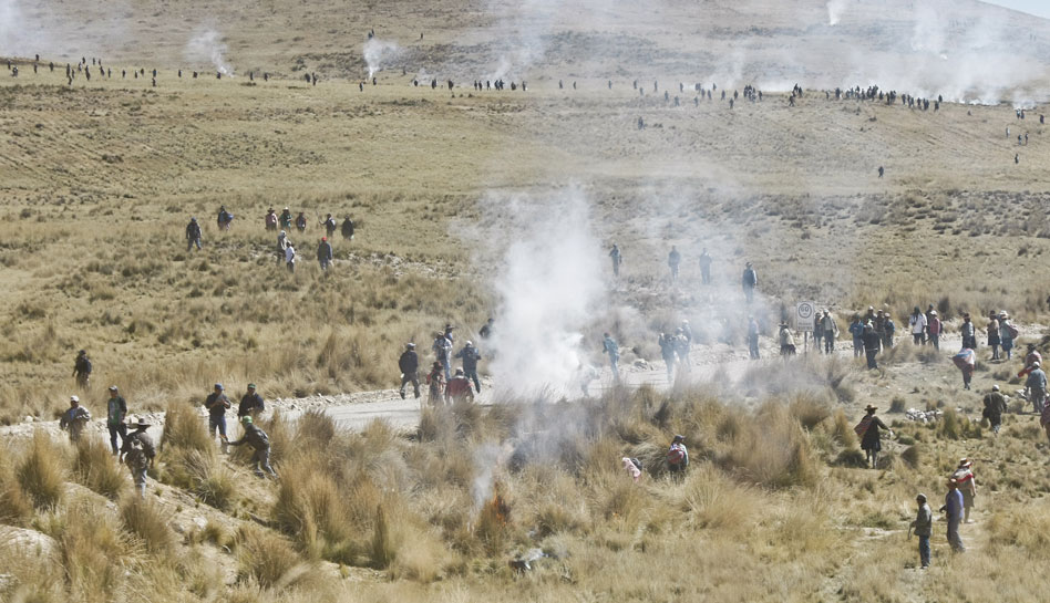 Cusco, Conflictos sociales, Protestas antimineras, Espinar, Xstrata Tintaya
