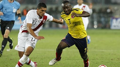 Selección colombiana, Jesús Álvarez, Eliminatorias Brasil 2014, Selección peruana