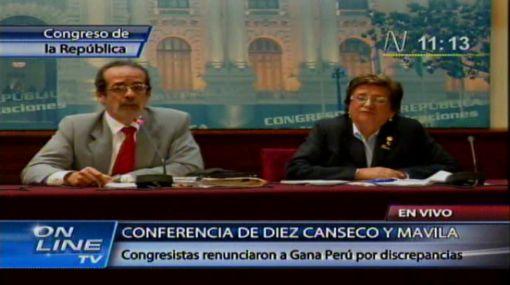 Gana Perú, Javier Diez Canseco, Rosa Mavila