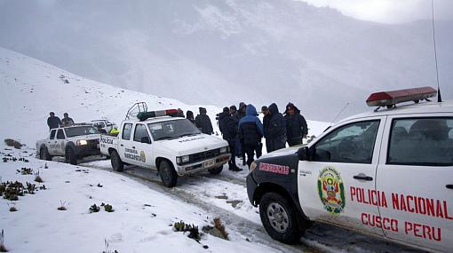 Cusco, Quispicanchis, Policía Nacional del Perú, Helicóptero perdido
