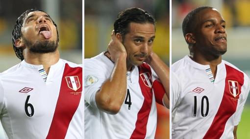 Claudio Pizarro, Juan Manuel Vargas, Jefferson Farfán, Eliminatorias Brasil 2014, Selección peruana