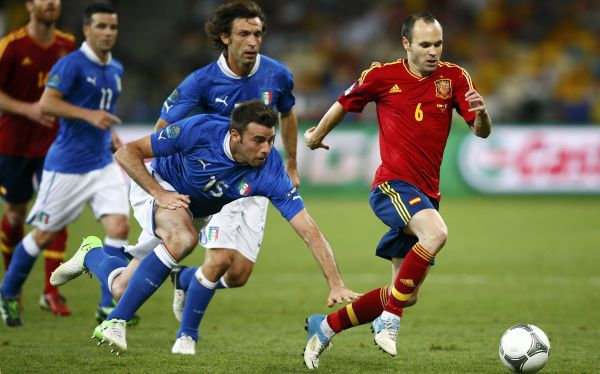Iniesta fue el mejor jugador de la Eurocopa 2012