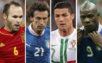 Cristiano Ronaldo, Andrea Pirlo, Seleccin italiana, Andrs Iniesta, Mario Balotelli, Seleccin espaola, Eurocopa 2012,  Gianlui