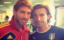 Andrea Pirlo, Seleccin italiana, Sergio Ramos, Seleccin espaola, Eurocopa 2012