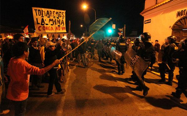 PCM, , Conflictos sociales, Cajamarca, Celendín, Protestas antimineras, Proyecto Conga, Estado de emergencia en Cajamarca