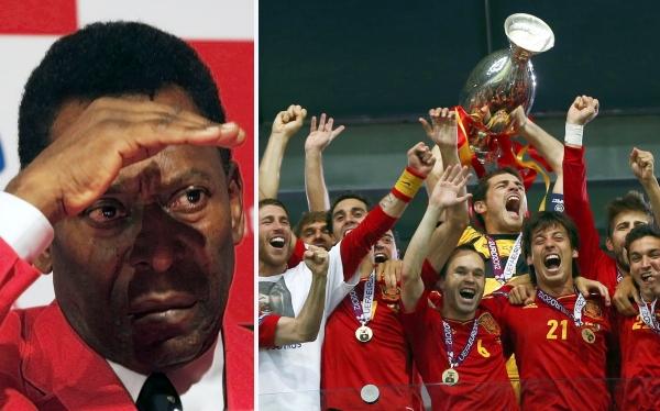 Pele: La actual España no le ganaria a Brasil del 70