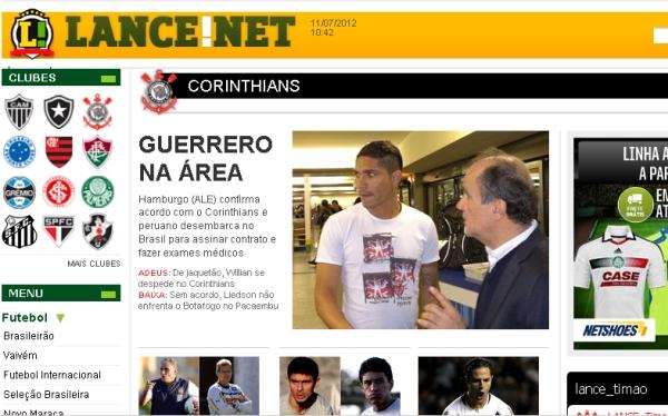 Fútbol brasileño, Corinthians, Paolo Guerrero