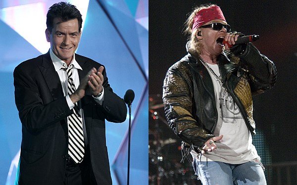 Charlie Sheen se burló de Axl Rose durante homenaje a Slash