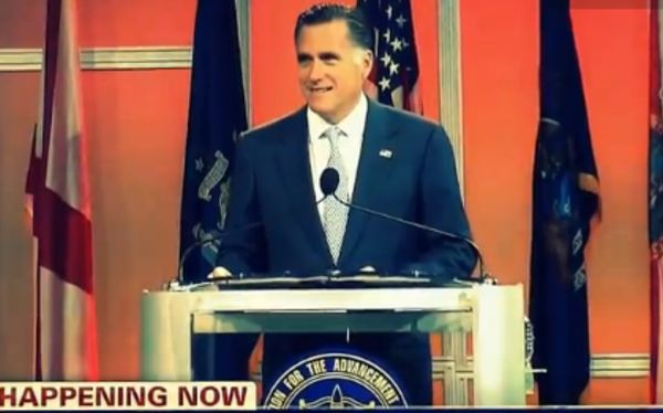 Mitt Romney fue abucheado durante discurso ante afroamericanos 