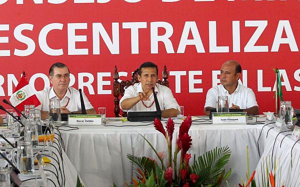 Loreto, Ollanta Humala, Consejo de Ministros