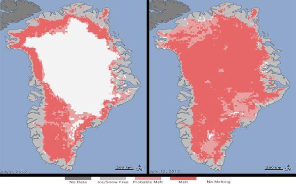 Groenlandia presenta un derretimiento sin precedentes de su superficie, según advierte la NASA 494918