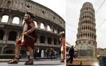 El Coliseo romano se inclina como la Torre de Pisa
