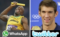 Michael Phelps, Usain Bolt, Londres 2012, Juegos Olmpicos, Twitter, WhatsApp, Facebook
