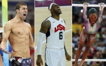 Michael Phesps, LeBron James, Gabrielle Douglas