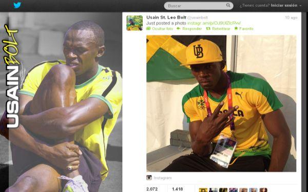, Usain Bolt, Jamaica, Londres 2012, Juegos Olímpicos, Twitter
