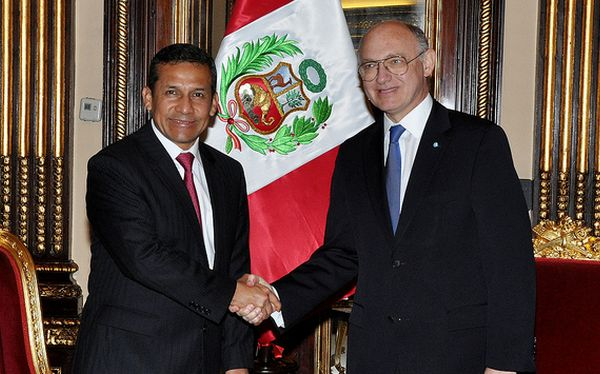 Ollanta Humala se reuni con canciller argentino 