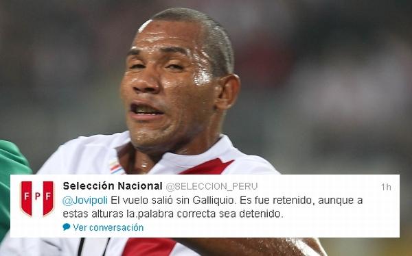 John Galliquio, Twitter, Selección peruana