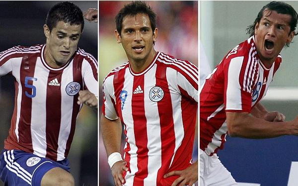 Roque Santa Cruz, Gerardo Pelusso, Nelson Haedo Valdez, Selección paraguaya, Selección argentina, Selección peruana